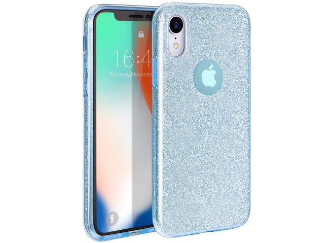 Coque iPhone XR Glitter Protect-Bleu