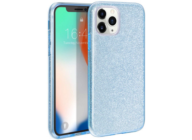 Coque iPhone 11 Pro Glitter Protect-Bleu