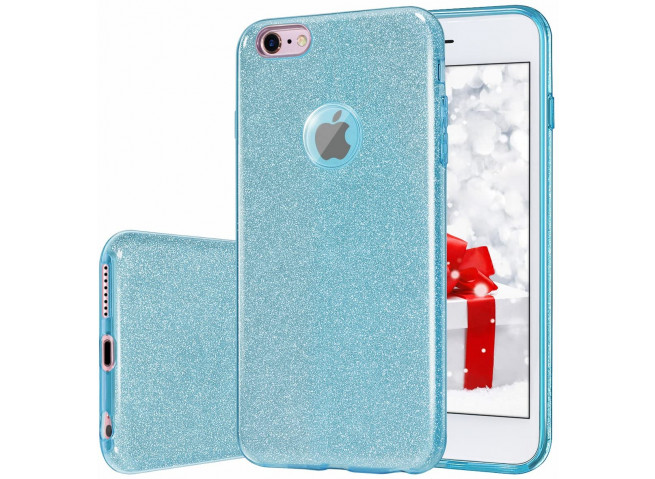 Coque iPhone 7 Plus / iPhone 8 Plus Glitter Protect Bleu