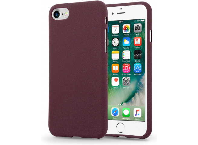 Coque iPhone 7 Plus / iPhone 8 Plus Burgondy Matte Flex