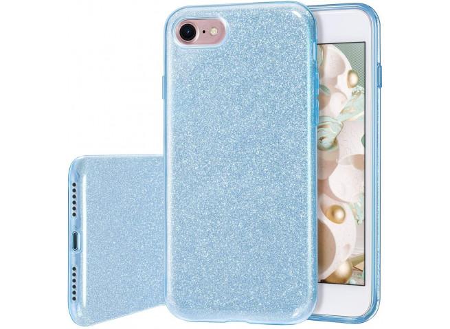 Coque iPhone 7 / iPhone 8/ SE 2020 Glitter Protect Bleu