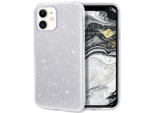 Coque iPhone 11 Glitter Protect-Argent