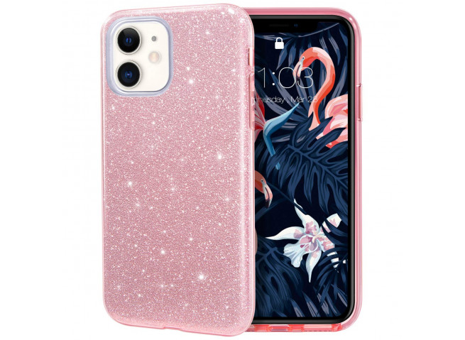 Coque iPhone 11 Glitter Protect-Rose