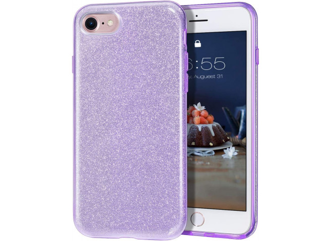 Coque iPhone 7 / iPhone 8/SE 2020 Glitter Protect-Violet