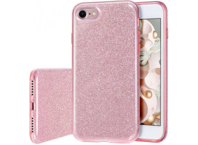 Coque iPhone 7 / iPhone 8/SE 2020 Glitter Protect-Rose