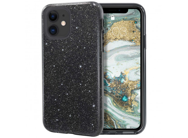 Coque iPhone 11 Glitter Protect-Noir