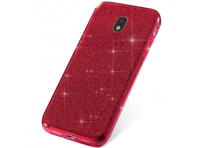 Coque Samsung Galaxy J3 2017 Glitter Protect-Rouge