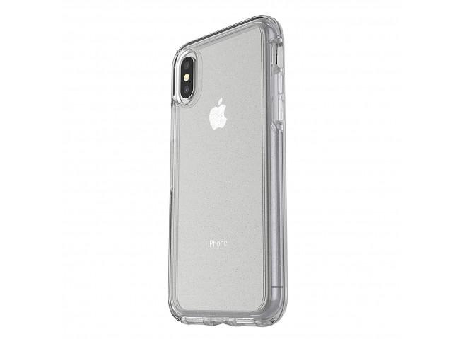 Coque iPhone XS Max No Shock Glitter Silver