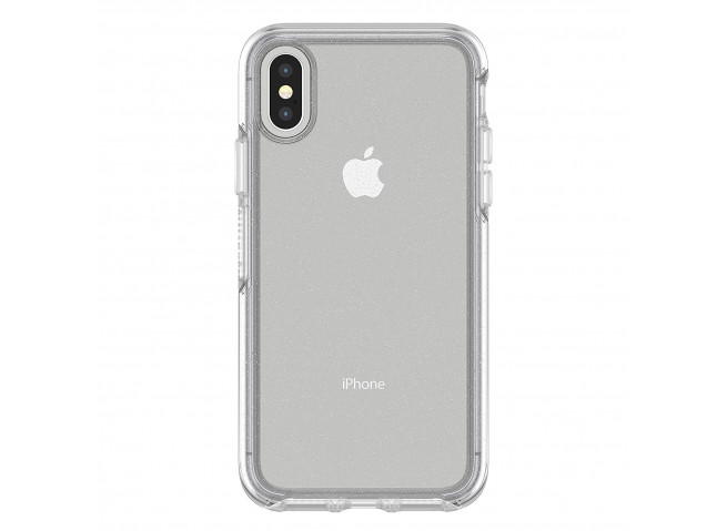 Coque iPhone X/XS No Shock Glitter Silver
