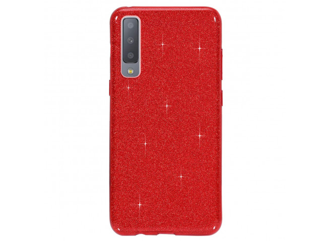Coque Samsung Galaxy A7 2018 Glitter Protect-Rouge