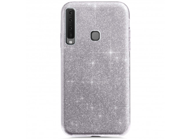 Coque Samsung Galaxy A9 2018 Glitter Protect-Argent