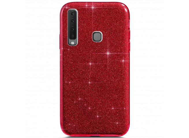 Coque Samsung Galaxy A9 2018 Glitter Protect-Rouge