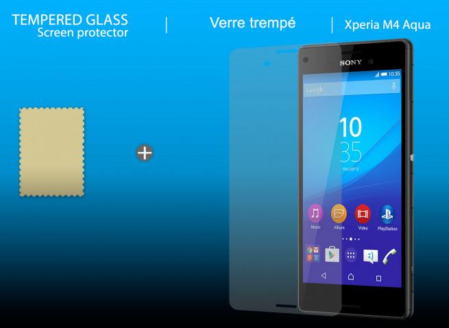 Film Protecteur Sony Xpéria M4 (Aqua) en verre trempé