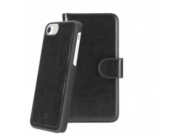 Etui iPhone 6/6S/ iPhone 7 / iPhone 8 2 en 1 Luxe Eman-Noir