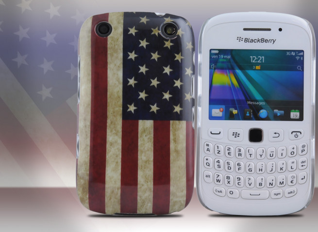 Coque BlackBerry Curve 9320 Vintage USA Flag