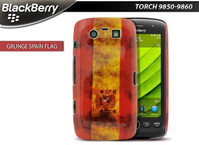 Coque BlackBerry Torch 9850/9860 Drapeau Grunge - Espagne