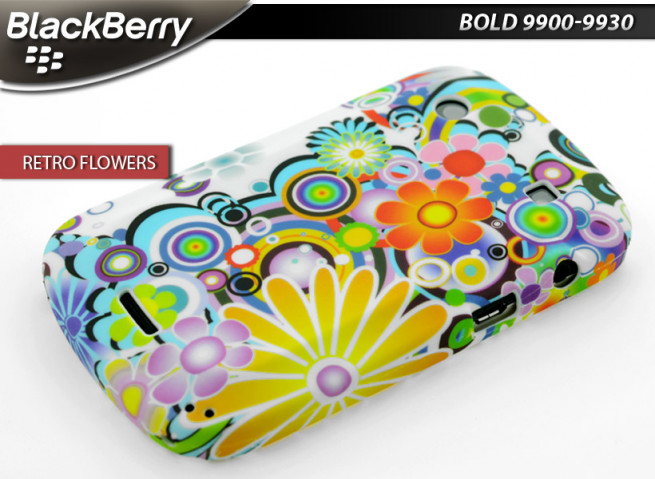 Coque BlackBerry Bold 9900/9930 Retro Flowers Case