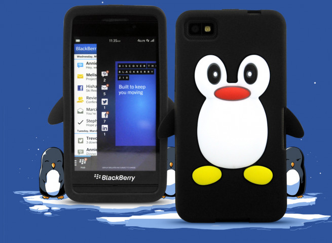 Coque Blackberry Z10 - Pingouin