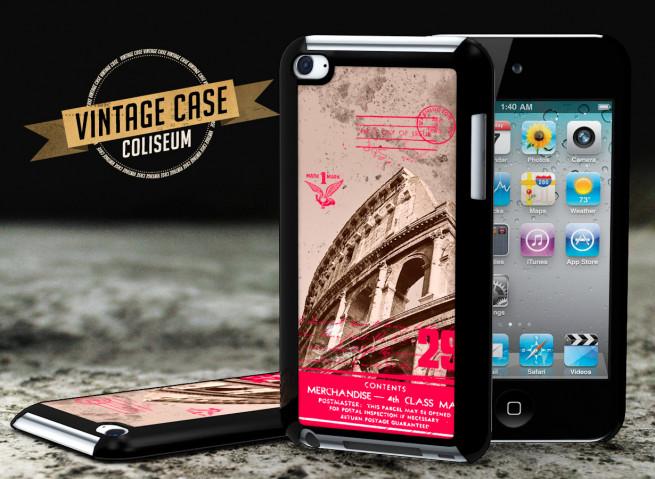 Coque iPod Touch 4 Vintage Case - Coliseum