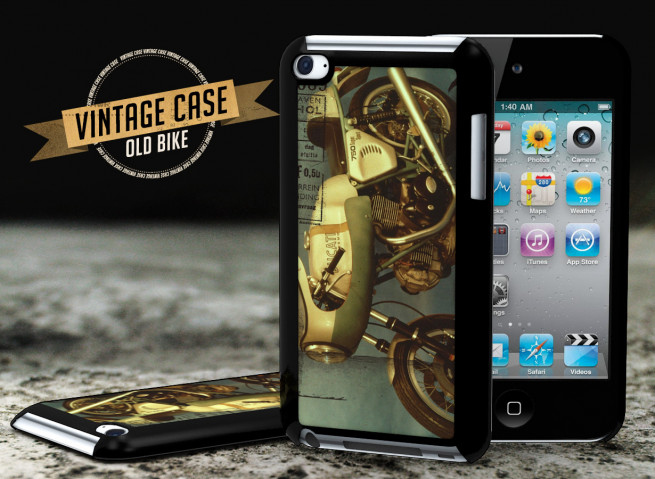 Coque iPod Touch 4 Vintage Case -Old Bike