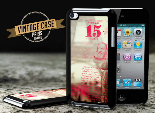 Coque iPod Touch 4 Vintage Case -Paris Brume