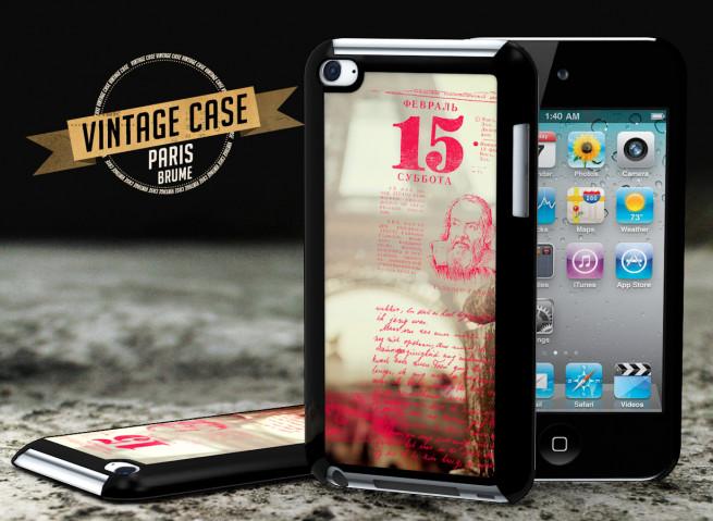 Coque iPod Touch 4 Vintage Case -Paris Brume
