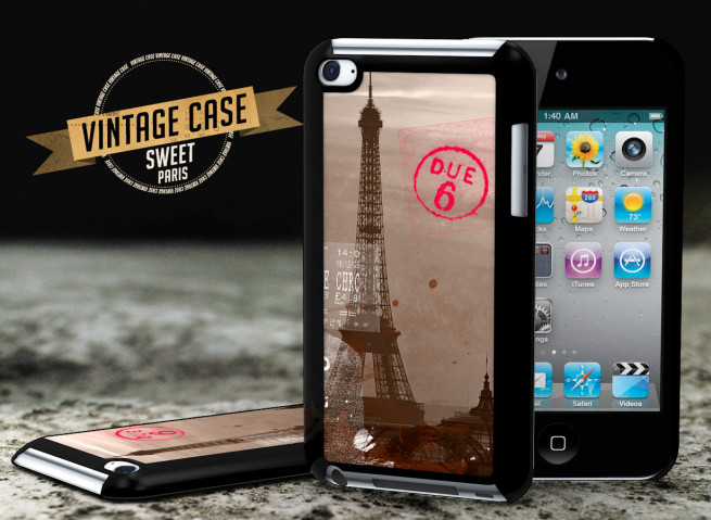 Coque iPod Touch 4 Vintage Case - Sweet Paris