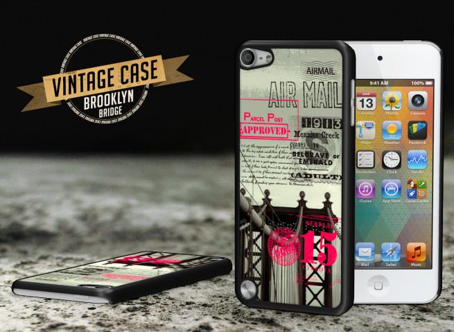 Coque iPod Touch 5 Vintage Case - Brooklyn Bridge