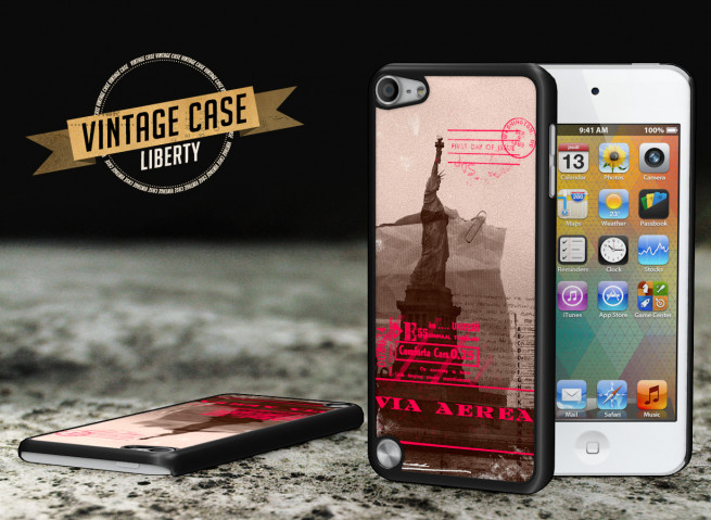 Coque iPod Touch 5 Vintage Case - Liberty