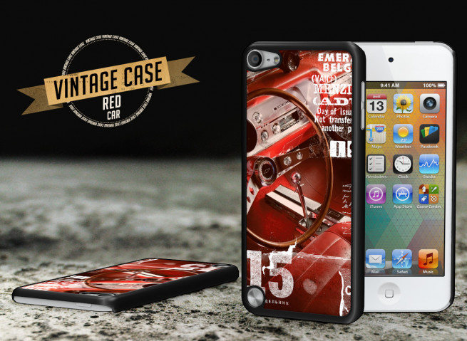 Coque iPod Touch 5 Vintage Case - Red Car