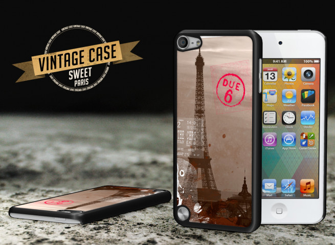 Coque iPod Touch 5 Vintage Case - Sweet Paris