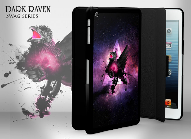 Coque/Etui Smart Cover iPad Mini Swag Series - Dark Raven