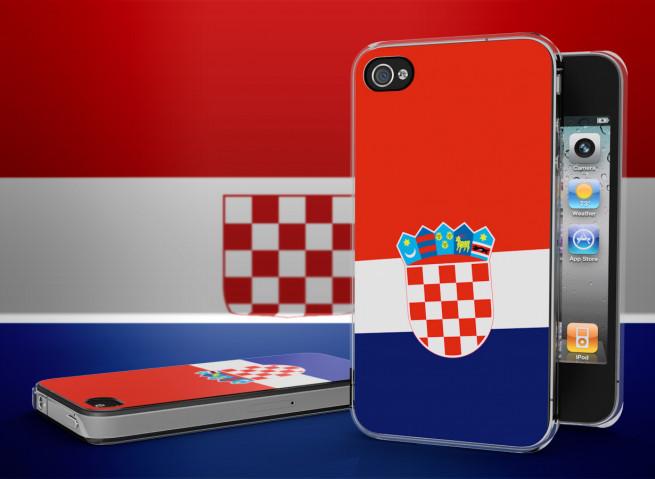 Coque iPhone 4/4S Drapeau Croatie Translucide