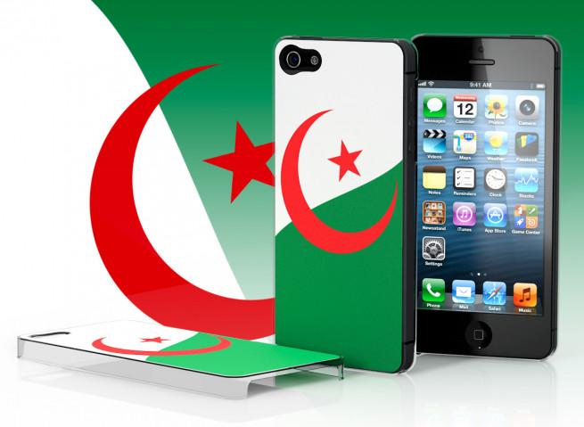 Coque iPhone 5 Drapeau Algérie