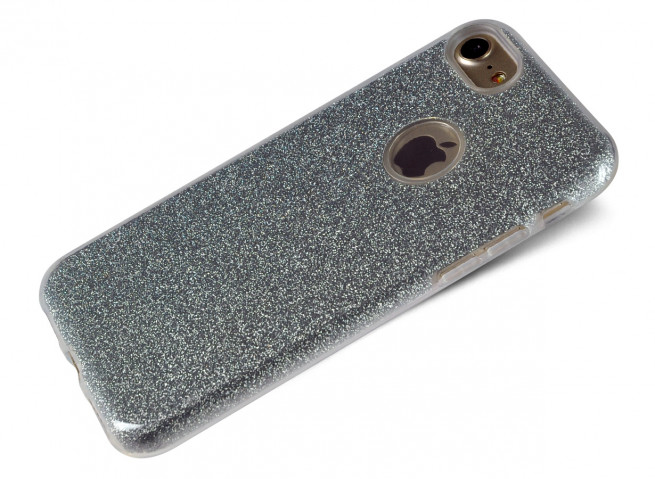 Coque iPhone 5/5S/SE Glitter Protect Argent