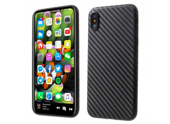 Coque iPhone XR Carbon Black