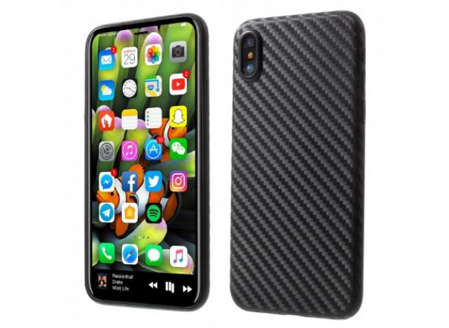Coque iPhone XS Max Carbon Black