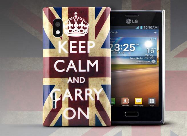 Coque LG Optimus L5 UK Keep Calm