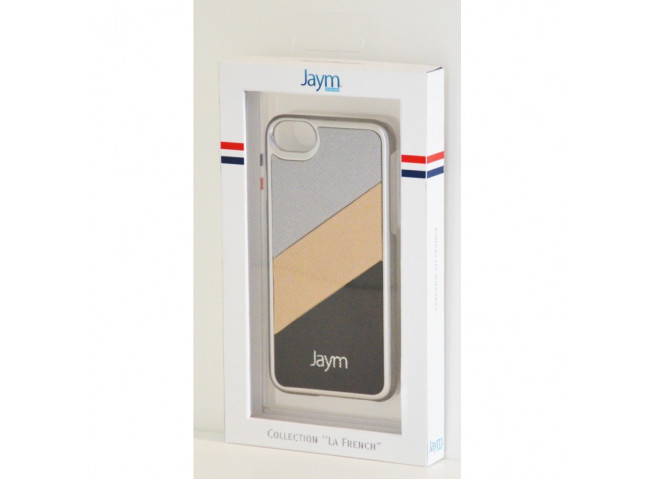 Coque iPhone 6/6S/7/8 Silver Metal Made in France