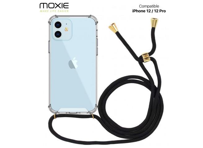 Coque iPhone 12/12 Pro Necklace Clear Shock + 1 tour de cou offert