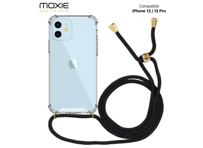 Coque iPhone 12 Pro Max Necklace Clear Shock + 1 tour de cou offert
