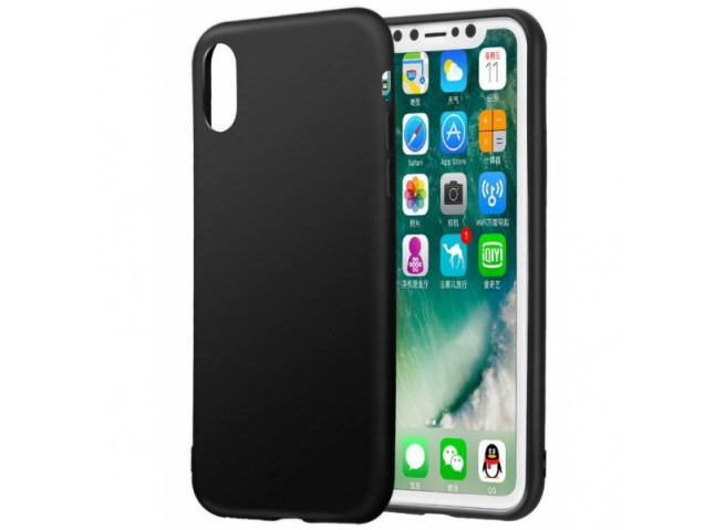 Coque iPhone XS Max Black Matte Flex