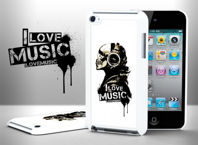 Coque iPod Touch 4 I Love Music
