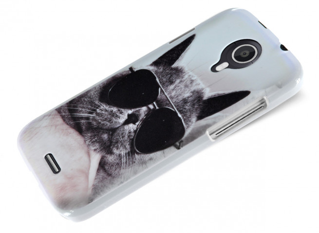 Coque Wiko Darknight Cat Glasses