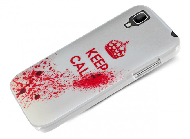 Coque Wiko Sunset Keep Calm Blood