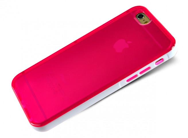 Coque iPhone 6 Plus/6S Plus Clear Flex Color-Rose