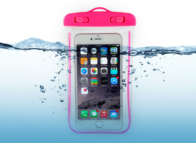Pochette Waterproof Taille M- Rose