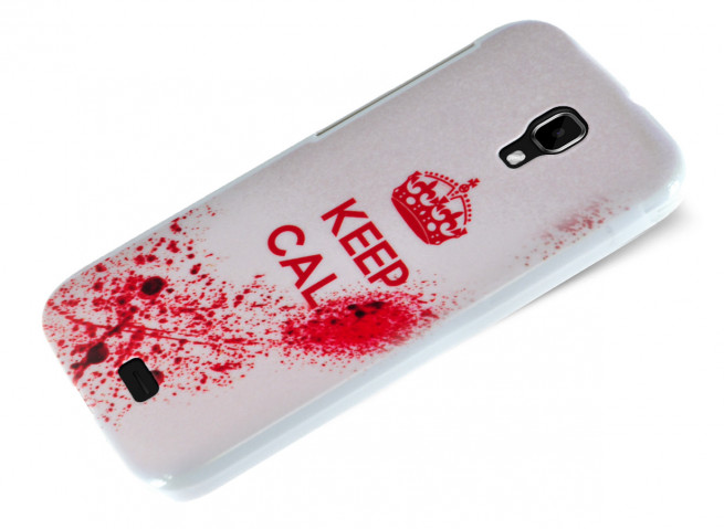 Coque Wiko Bloom Keep Calm Blood