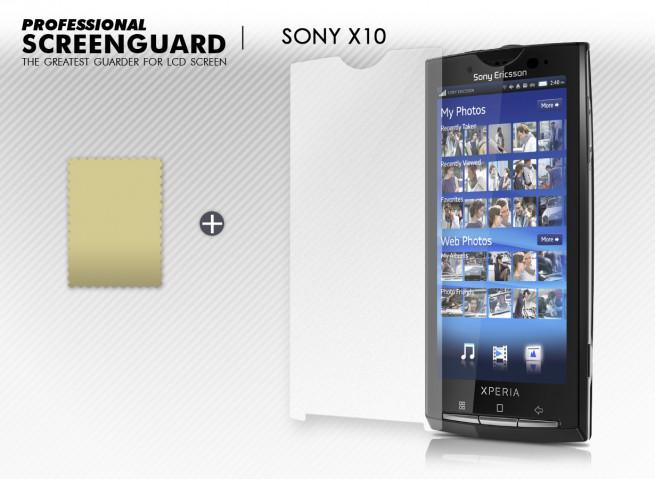 KIT avec 1 film protecteur + 1 chiffon Sony X10