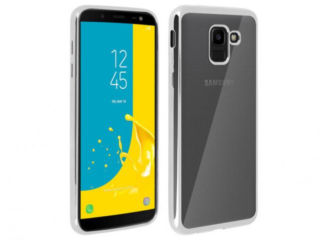 Coque Samsung Galaxy J6 Plus Silver Flex